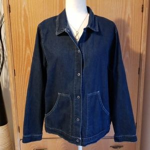 Hot Cotton denim shirt, EUC size L